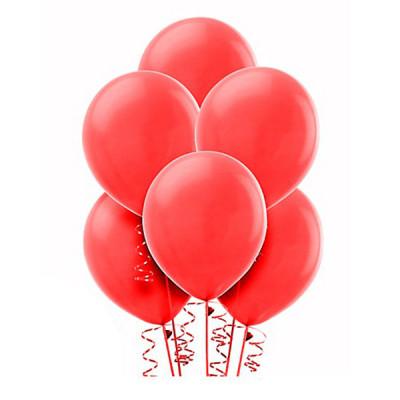 Красные шары металлик