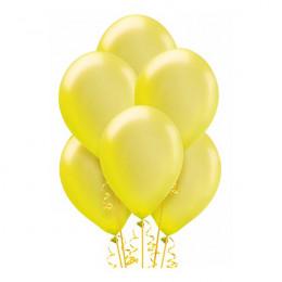 Желтые шары металлик