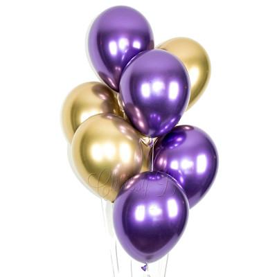 Хром Золото / Фиолетовый