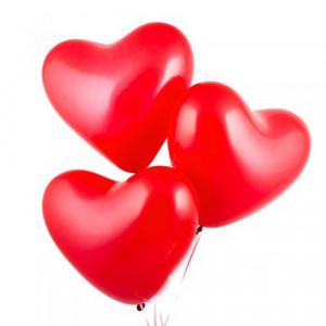 Шары красные сердца