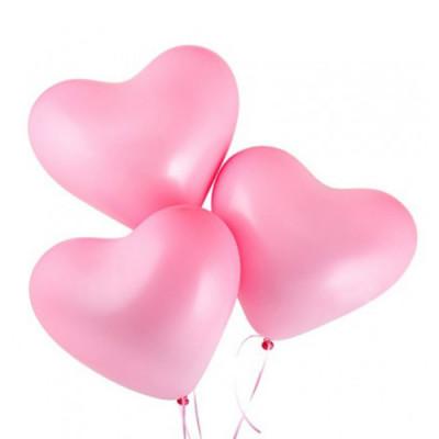 Шары Розовые сердца