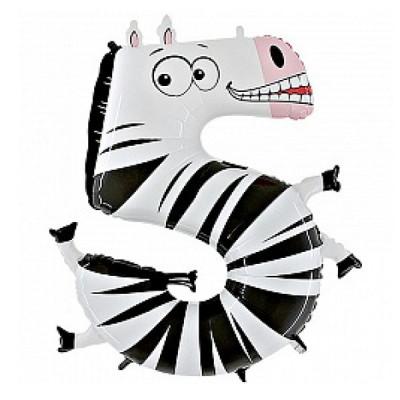 Цифра 5 зебра