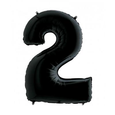 Цифра 2 Черная
