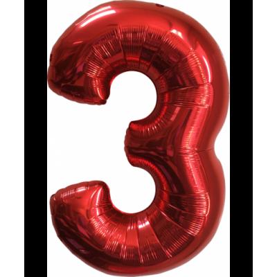 Цифра 3 Красная