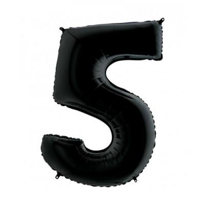 Цифра 5 Черная