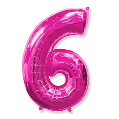 Цифра 6 Фукси