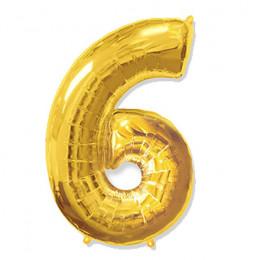 Цифра 6 Золото