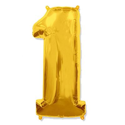 Цифра 1 Золото