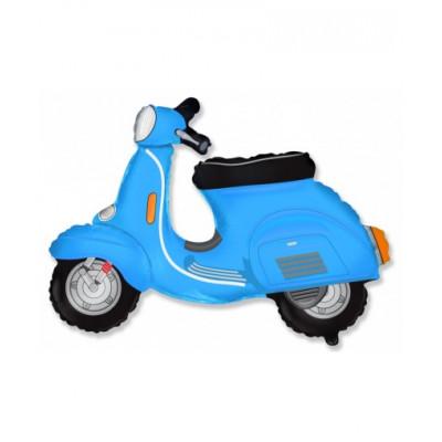 Скутер голубой
