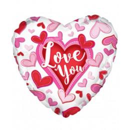 Сердце LOVE YOU