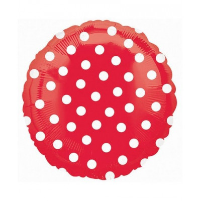 Круг Красный в горошек