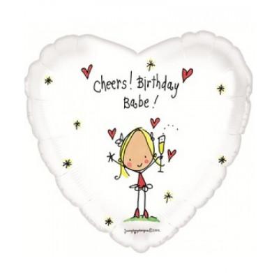 Сердце с Днем рождения Детка