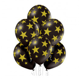 Шары Звезды на черном